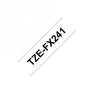 Brother TZe-FX241 Flexible ID Laminated Tape Black on White, TZe, 8 m, 1.8 cm
