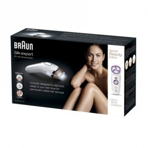 Braun Silk-expert IPL BD 5009 IPL Hair Removal System, Bulb lifetime (flashes) 120000, Gold, White
