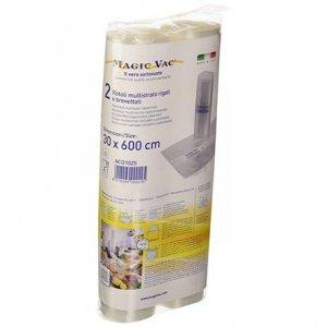 MAGIC VAC Vacuum sealer bags ACO1025 Set of 2 rolls 30 x 600 cm, Transparent