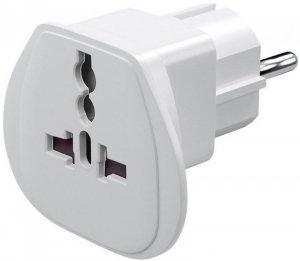 Travel adapter, (UK, US, IT, CH, to EU), 94026. Goobay