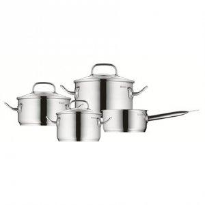 WMF Pot Set, 4 pcs. Profi Plus 1, 20, 16, 24 cm, Cromargan 18/10 stainless steel, Stainless steel, Dishwasher proof, Lid includ