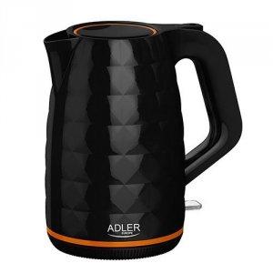 Adler Kettle AD 1277 Standard, Plastic, Black, 2200 W, 360° rotational base, 1.7 L