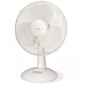 ORAVA SF-13 Table Fan, Number of speeds 3, 30 W, Oscillation, Diameter 30 cm, White
