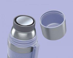 Boddels HEET Vacuum flask with cup Isothermal, Lavender blue, Capacity 0.7 L, Diameter 7.2 cm, Bisphenol A (BPA) free