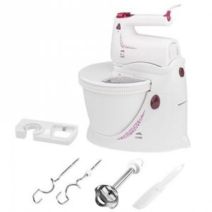 ETA Hand mixer with stand and bowl ETA208990000 CUORE White, 350 W, Handheld with stand, Number of speeds 4 gears + MAX button f