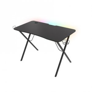 Genesis Holm 200 RGB Gaming Desk, Black