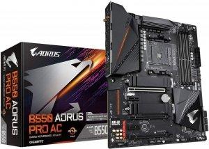 Gigabyte B550 AORUS PRO AC 1.0 M/B Processor family AMD, Processor socket AM4, DDR4 DIMM, Memory slots 4, Number of SATA connect