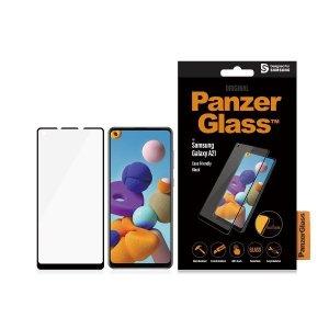 PanzerGlass Samsung, Galaxy A21, Glass, Black, Case Friendly