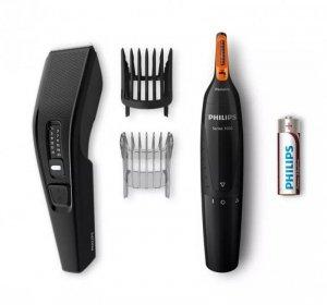 Philips Hair Trimmer HC3510/85 Corded, Black/Blue