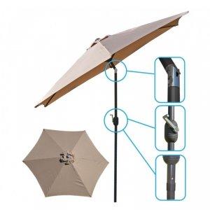 Parasol ogrodowy 300cm składany beżowy Saska Garden