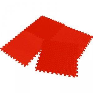 Mata puzzle piankowe Eva 6x60x1,2cm kpl. 4szt Enero czerwona