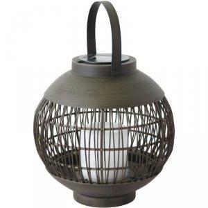 Lampa Solarna Kula Rattan Saska Garden Fi 22Cm