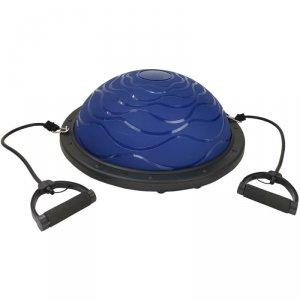 Bosu Trener Równowagi Blue 59,5Cm Z Linkami i  Pompka Eb Fit