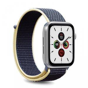 PURO Apple Watch Band - Nylonowy pasek do Apple Watch 42 / 44 mm (Niebieski)