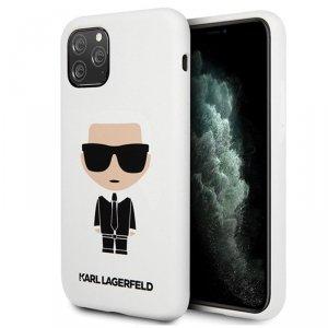 Karl Lagerfeld Fullbody Silicone Iconic - Etui iPhone 11 Pro Max (White)