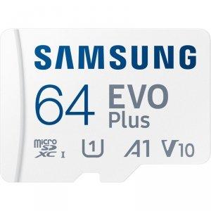 Samsung microSDXC EVO Plus - Karta pamięci 64 GB UHS-I U1 A1 V10 z adapterem