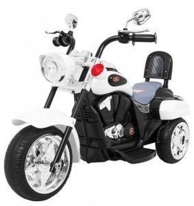Motorek Chopper NightBike Biały