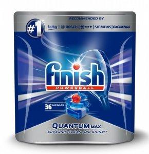 Finish Quantum Max 36 szt. Detergent do zmywania naczyń+nabłyszczacza+sól Tabletka