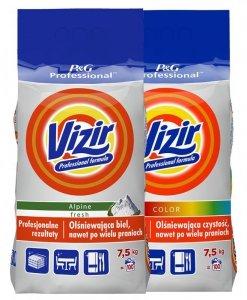 Zestaw VIZIR Proszek do prania Regular 7,5kg  + VIZIR Proszek do prania Kolor 7,5kg