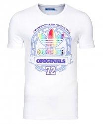 Adidas Originals biała koszulka t-shirt logo hologram