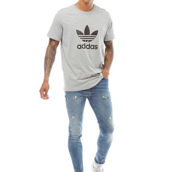 Adidas Originals szara koszulka t-shirt męski Trefoil CW0710