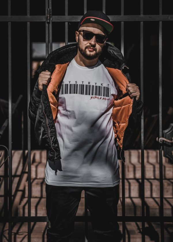 Koszulka Dystrykt Bar Code Biała