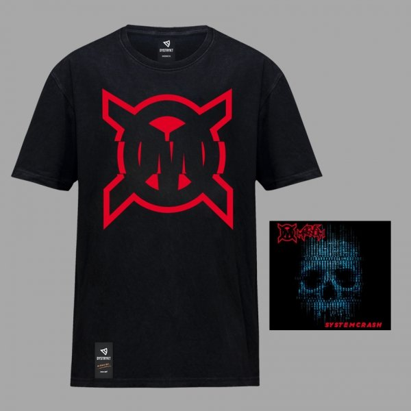 """CD Opus Magnum """"System Crash"""" + koszulka """"OM"""" Czarna/Biała"""