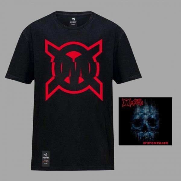 """Preorder CD Opus Magnum """"System Crash"""" + koszulka """"OM"""" CZARNA"""