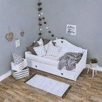 Łóżko dziecięce sosnowe Zosia białe 160x80 + materac