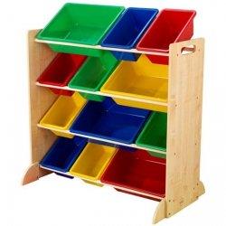 KIDKRAFT Drewniany Regalik 12 skrzynek Kolor
