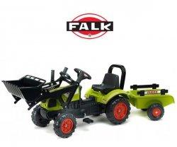 FALK Traktor CLAAS ARION z łyżką i przyczepą