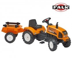 FALK Traktor RENAULT pomarań. otwi. maska+ przycz