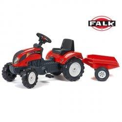 FALK Traktor RANCH z Przyczepą Czerwony