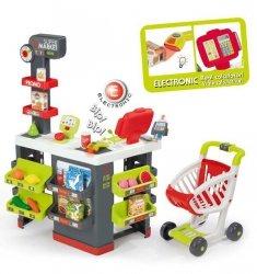 SMOBY Elektroniczny Supermarket Z Wózkiem