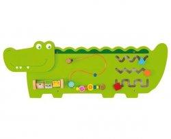 VIGA Drewniana Manipulacyjna Tablica Krokodyl
