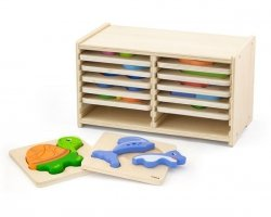 VIGA Drewniane Puzzle Blokowe