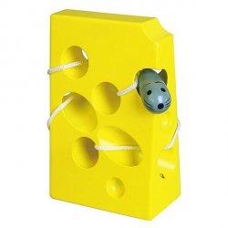 VIGA Przeplatanka labirynt - żółty serek dla myszk