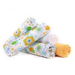 Lulando pieluszki flanelowe 70x80 pszczółki zielone/biała/żółta 5 szt
