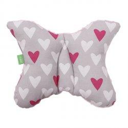 Lulando Poduszka do wózka MINKY różowy-serca