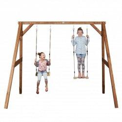 Axi Plac Zabaw Drewniany Huśtawka Deska 2 Siedziska