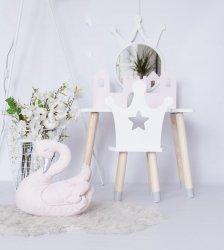Zestaw dziecięcy stoliczek z zamkiem i krzesełko korona