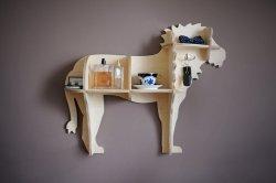 Półka dziecięca na ścianę lew