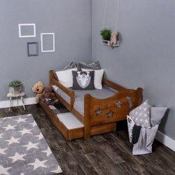 Łóżko dziecięce sosnowe Chrisi kolor dąb 160/80 + Materac