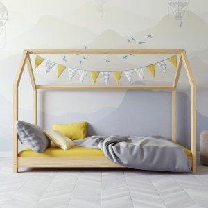 Łóżko dziecięce BELLA Domek naturalny
