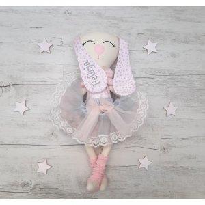 Maskotka personalizowana  króliczek baletnica Róża