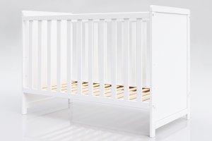 Łóżeczko niemowlęce tapczan bez szuflady 2w1 Lilia 120x60 biały