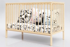 Łóżeczko niemowlęce tapczan 2w1 DOMINIK sosna 120x60