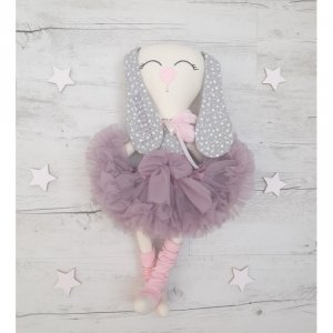 Maskotka personalizowana  króliczek baletnica Jagoda