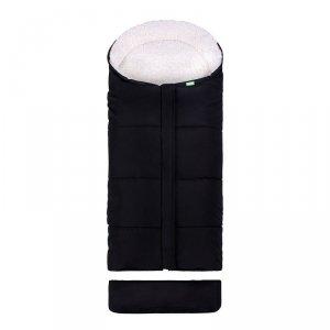 LULANDO Zimowy śpiwór do wózka dla dzieci Pik - Czarny