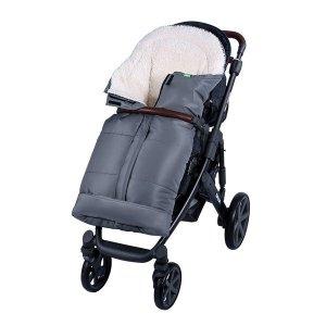 Lulando Zimowy śpiwór do wózka dla dzieci PIK szary